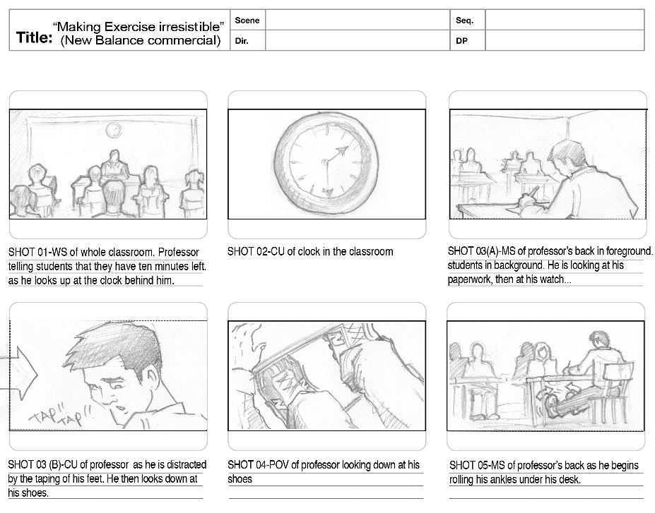 Commercial Storyboards To View Level Storyboard Exemplars Click